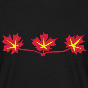 Red Maple Leaves Canadian Standard Symbol T-Shirts - Men's T-Shirt