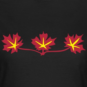 Red Maple Leaves Canadian Standard Symbol T-Shirts - Women's T-Shirt