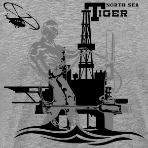 Oil Rig Oil Field North Sea Aberdeen Scotland T-Shirts - Men's Premium T-Shirt