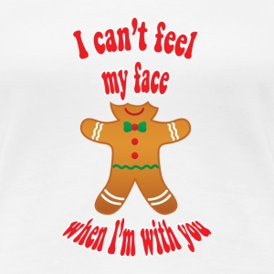 I can't feel my face - funny gingerbread man tee - Women's Premium T-Shirt