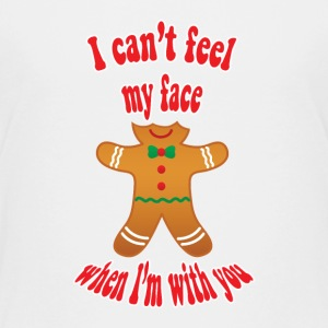 I can't feel my face - funny gingerbread man t-shi - Teenage Premium T-Shirt