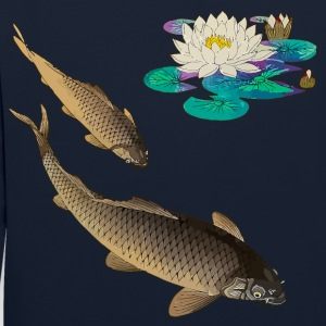 Kois with water lily Sweaters - Contrast hoodie