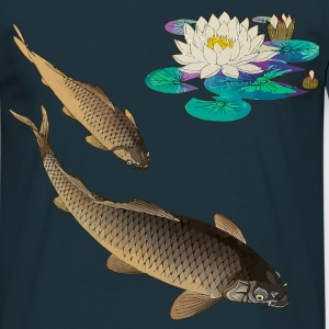 Kois with water lily T-shirts - Mannen T-shirt