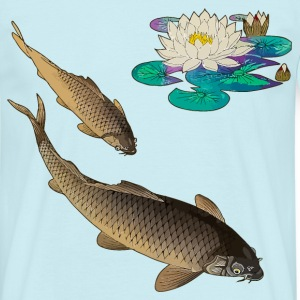 Kois with water lily T-shirts - T-shirt herr