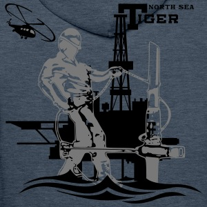 Oil Rig Oil field North Sea Tiger Aberdeen - Men's Premium Hoodie