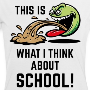 This Is What I Think About School! (PNG) T-Shirts - Frauen Kontrast-T-Shirt