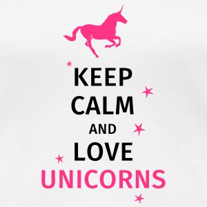 keep calm and love unicorn T-Shirts - Women's Premium T-Shirt