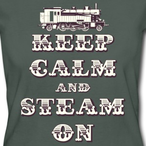 Keep Calm and Steam On #1B Women's Organic T-Shirt - Women's Organic T-shirt
