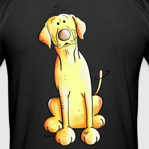 Golden Labrador Retriever T-shirts - Herre Slim Fit T-Shirt