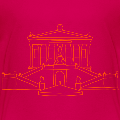 Alte Nationalgalerie neon-orange Museumsinsel Berlin-T-shirt