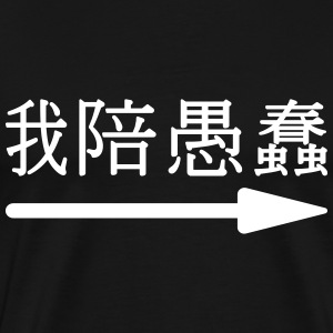 wǒ péi yúchǔn - 我陪愚蠢 (I'm with stupid) T-Shirts - Men's Premium T-Shirt