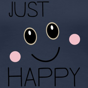 Just Happy Smiley T-Shirts - Frauen Premium T-Shirt