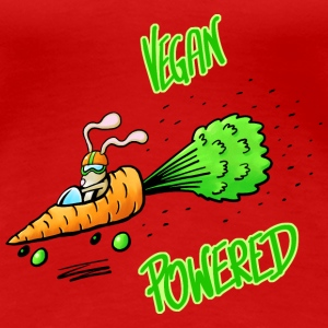 Veganpowered_Karotte T-Shirts - Frauen Premium T-Shirt