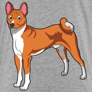 Brown And White Basenji - Kids' Premium T-Shirt