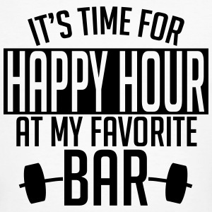 it's time for happy hour at my favorite bar A 1c T-Shirts - Männer Bio-T-Shirt