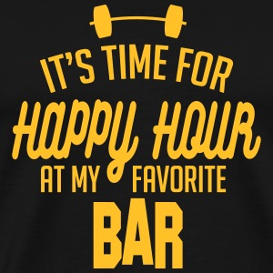 it's time for happy hour at my favorite bar C 1c T-shirts - Herre premium T-shirt
