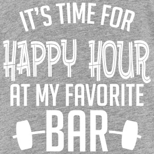 it's time for happy hour at my favorite bar B 1c Tee shirts - T-shirt Premium Ado