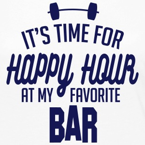it's time for happy hour at my favorite bar C 1c Manches longues - T-shirt manches longues Premium Femme