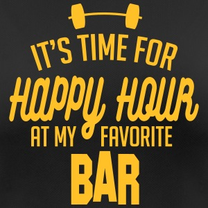 it's time for happy hour at my favorite bar C 1c Vêtements Sport - T-shirt respirant Femme