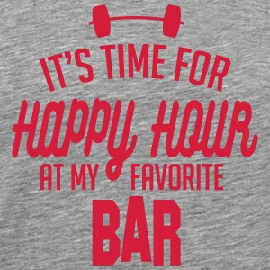 it's time for happy hour at my favorite bar C 1c T-Shirts - Men's Premium T-Shirt