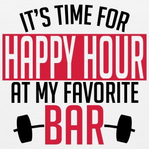 it's time for happy hour at my favorite bar A 2c Singlets - Premium singlet for menn