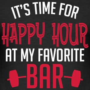 it's time for happy hour at my favorite bar B 2c T-Shirts - Men's Slim Fit T-Shirt