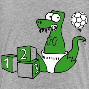Baby T-Rex Dinosaur with ball and dice Shirts - Kids' Premium T-Shirt