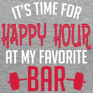 it's time for happy hour at my favorite bar B 2c Manches longues - T-shirt manches longues Premium Femme