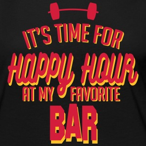 it's time for happy hour at my favorite bar C 2c Manches longues - T-shirt manches longues Premium Femme