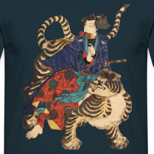 Samurai on Tiger T-Shirts - Men's T-Shirt