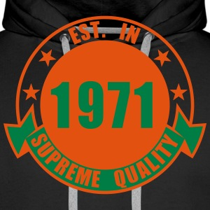 1971 Supreme Sweat-shirts - Sweat-shirt à capuche Premium pour hommes