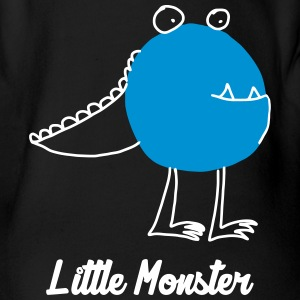 Little Monster / Baby / Bébé / Humor / Halloween Babybody - Økologisk kortermet baby-body