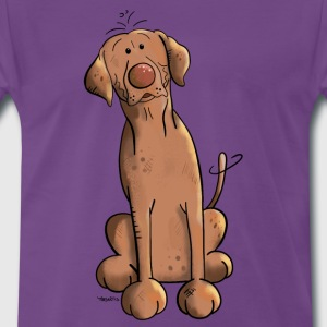 Brown Labrador Dog T-Shirts - Men's Premium T-Shirt