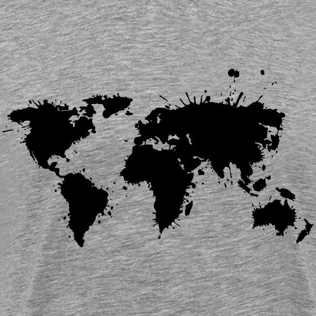 "Herren Premium T-Shirt ""Weltkarte"""