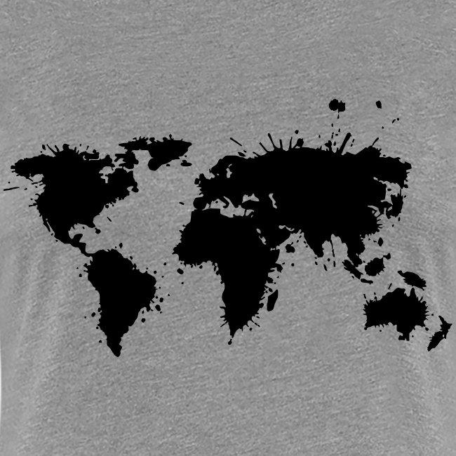 """Damen Premium T-Shirt """"Weltkarte"""""""