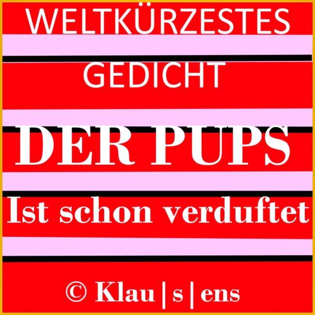 """Kinder-Premium-T-SHIRT mit Aufdruck Gedicht """"DER PUPS"""" von KLAUSENS"""