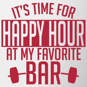 it's time for happy hour at my favorite bar A 1c Krus & tilbehør - Tofarvet krus