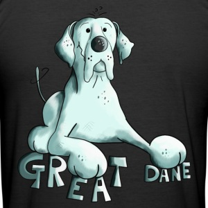 Gelukkig Great Duitse Dog T-shirts - slim fit T-shirt