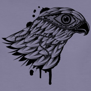 Grijs-violet head of falcon T-shirts - Vrouwen Premium T-shirt