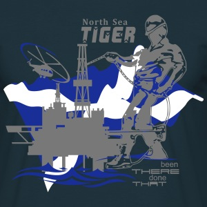 Oil Rig Oil Field North Sea Aberdeen Scotland - Men's T-Shirt
