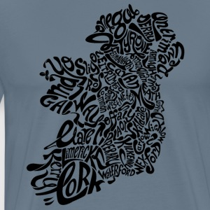 Ireland Typography (MENS) - Men's Premium T-Shirt