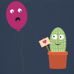 Cactus in love with balloon Shirts - Teenage Premium T-Shirt