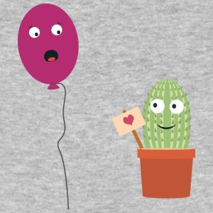 Cactus in love with balloon T-Shirts - Men's Organic T-shirt