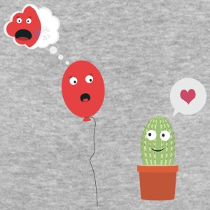 Cactus in love with balloon T-Shirts - Women's Organic T-shirt
