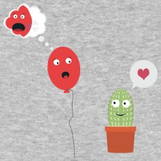 Cactus in love with balloon T-Shirts