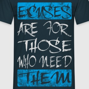 excuses white blue T-Shirts - Men's T-Shirt