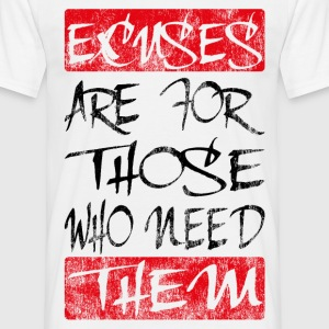 excuses black red T-Shirts - Männer T-Shirt