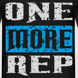 one more rep white blue T-Shirts - Männer T-Shirt