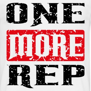one more rep black red T-Shirts - Männer T-Shirt