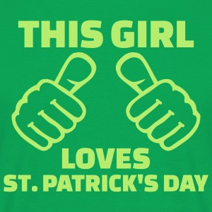 This girl loves St. Patrick's day T-Shirts - Männer T-Shirt